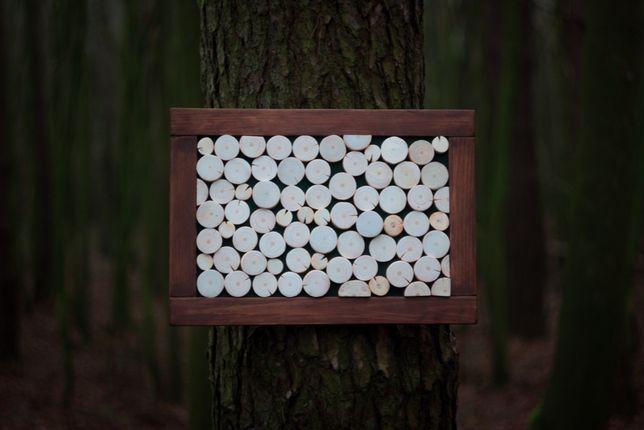 Obraz z plastrów drewna, panel, naturalne drewno