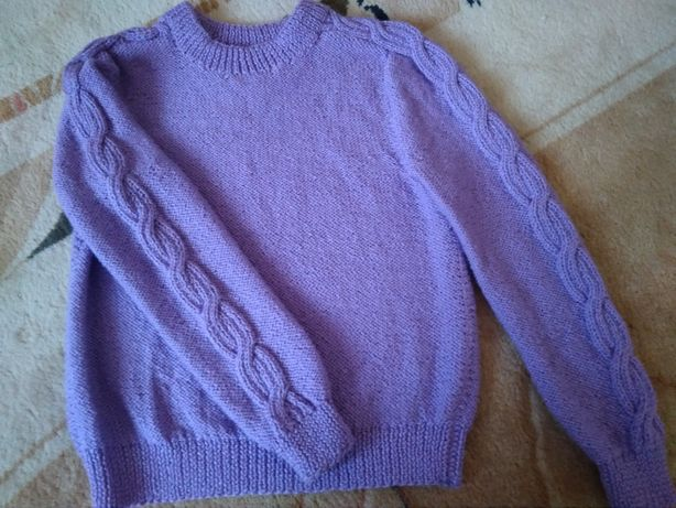 Вязаный женский свитер 44-46р