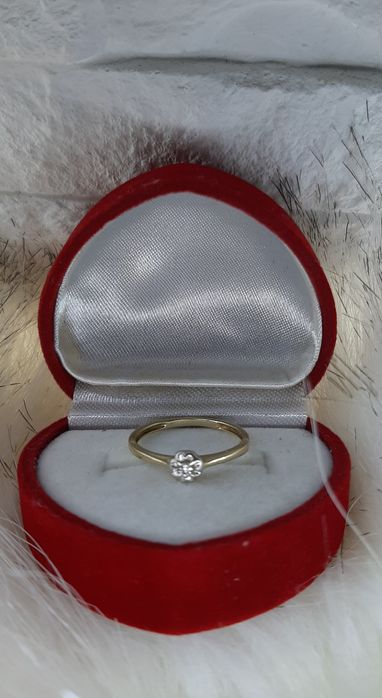 Pierścionek zaręczynowy 11 brylant Sokołów Podlaski - image 1