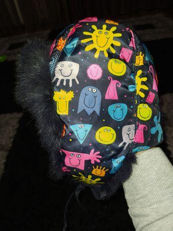 Шапка, шапочка с мехом кролика!