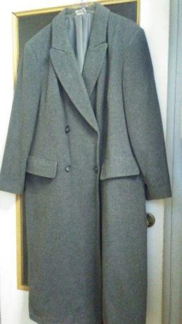Przejściowy szary płaszcz wełna rozmiar 46