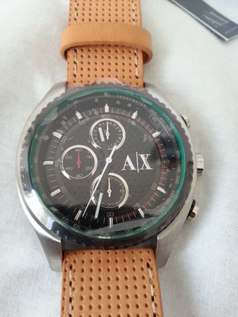 SALE!!Fame!NOWY zegarek ARMANI AX1608, skórzany pasek!Oryginał!!