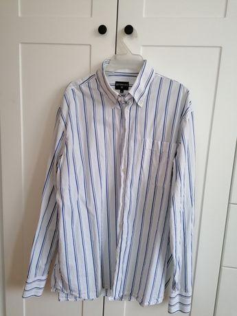 Biała koszula w niebieskie pasy Cottonfield
