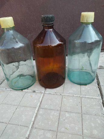Скляні бутилки для вина, горілки з кришкою 1л
