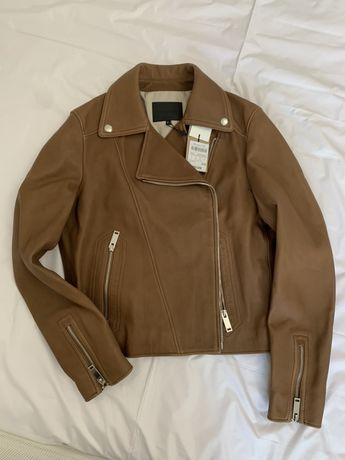 Кожаная куртка,шкіряна куртка massimo dutti