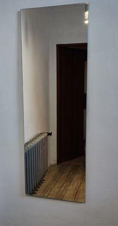 Lustro bezramowe 145x50cm na ścianę do garderoby do przedpokoju duże