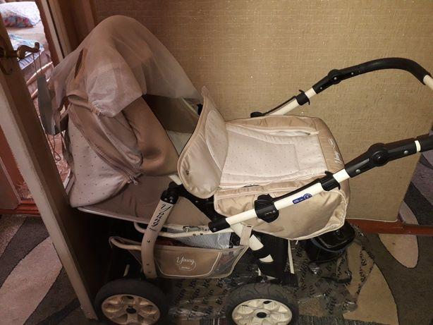 Детская коляска трансформер зима-лето Adamex young. Торг возможен