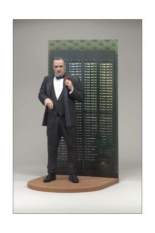 The Godfather Don Corleone McFarlane com Diorama RARO