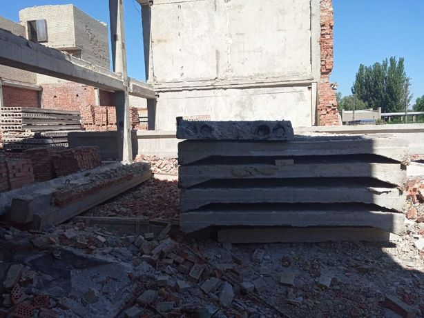 Плиты перекрытия БУ (ПК 2-9м ,ПКЖ 6х1.5,6х3)Блок ФБС фундаментный