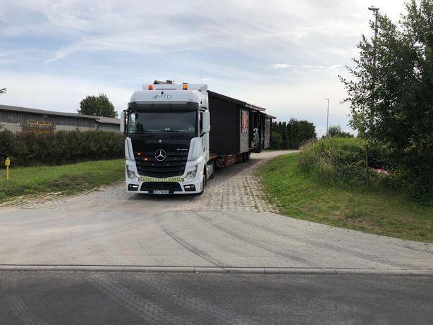 Transport niskopodwoziowy domek holenderski angielskich gabaryty