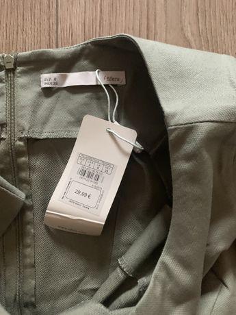 Vestido SFERA verde com cinto novo com etiqueta tamanho S