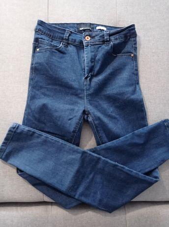 Spodnie rurki jeansy wysoki stan S