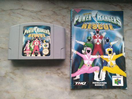 Power Rangers Lightspeed Rescue + Manual - Nintendo 64