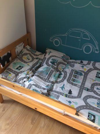 Drewniane łóżko dziecięce Ikea Kritter + materac 160 cm × 70 cm