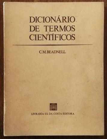 dicionário de termos científicos, c.m. beadnell, sá da costa