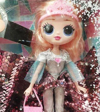 Кукла для детей в блестящем платье, Айсберг светящийся Новая кукла