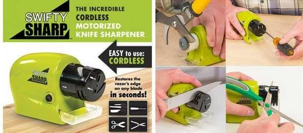 Электрическая точилка для ножей и ножниц SWIFTY SHARP