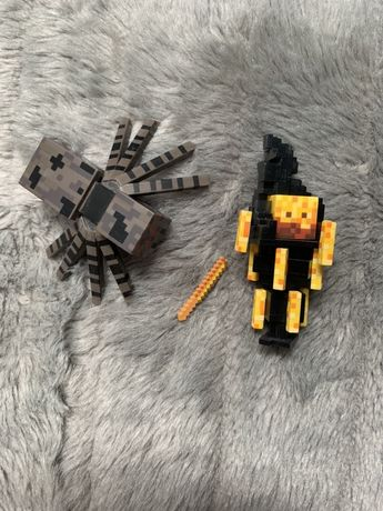 Figurka Minecraft Blaze i Pająk