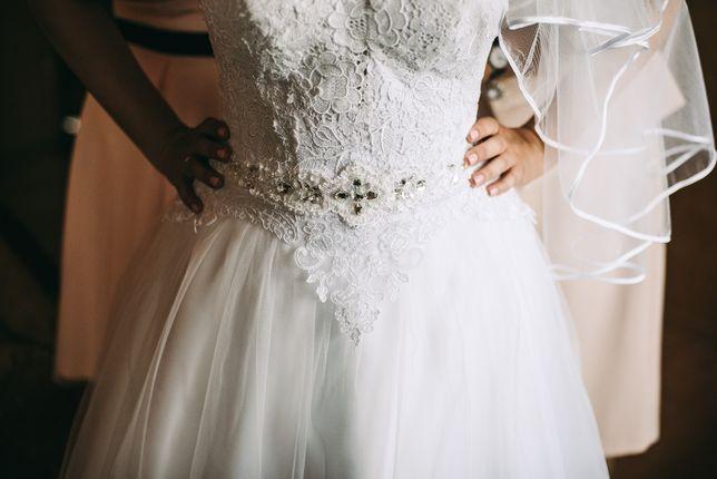 Suknia ślubna Igar model Hermiona autorska, śnieżno biała