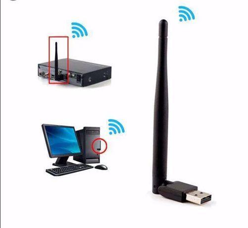 Cетевой Wi-Fi адаптер с антенной 150 Мбит/сек