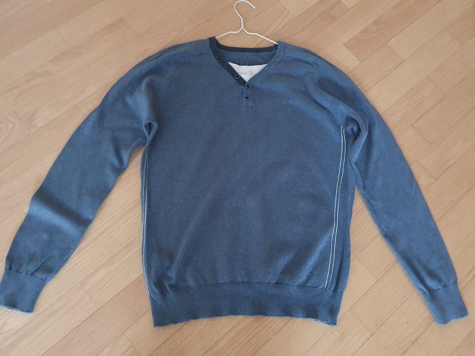 Niebieski sweter męski Reserved L Rzeszów - image 1
