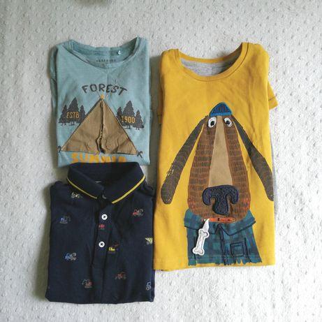 Reserved, George, M&S zestaw koszulka długi rękaw r. 98, 104