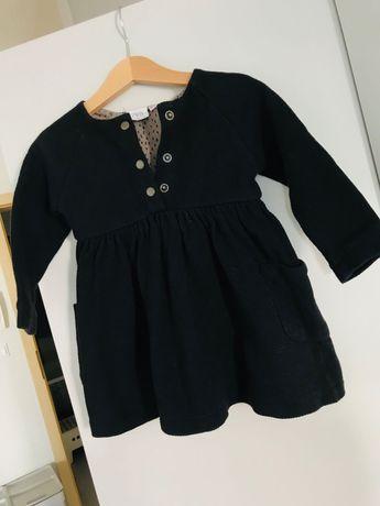 Sukieneczka ZARA czarna dziewczynka 92 (86 i 98) jak Nowa