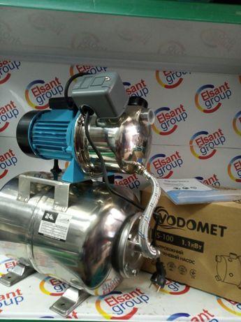 Гидрофор 1,1 кВт нержавейка насос для води станция полива колодца