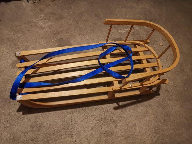 Sanki drewniane z oparciem Rezerwacja do godz. 13
