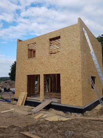 Szkielet domu drewnianego dom drewniany konstrukcja domek konstrukcja