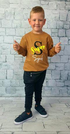 Komplet chłopięcy dres bluza Super Synek+spodnie 92, 98, 104, 110, 122
