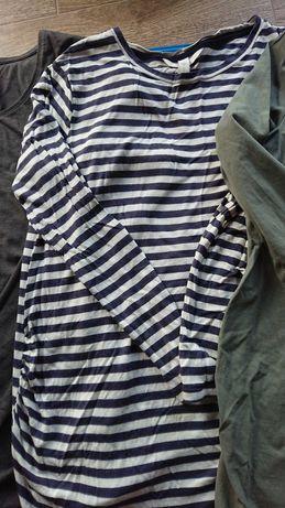 Bluzka ciążowa S H&M długi rękaw 3 sztuki