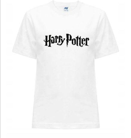 Koszulka t-shirt Harry Potter dziecięca czarna biała