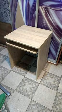 Biurko 60x60 dąb sonoma z klawiaturą zaokrąglone narożniki