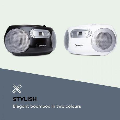 Boombox AUNA Haddaway CD bluetooth, FM, AUX,Czarny
