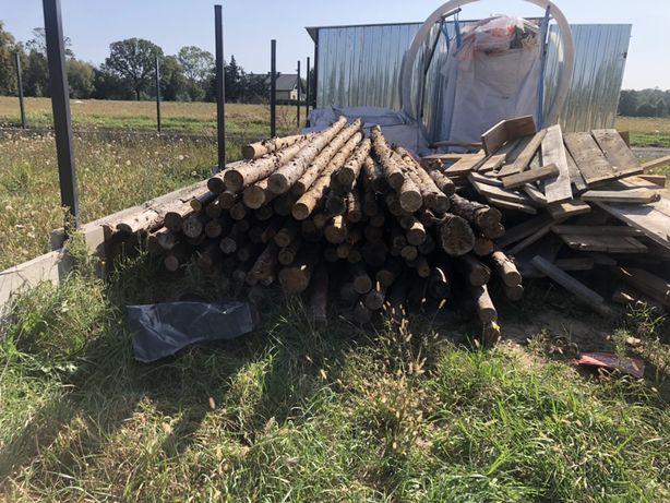 Stemple budowlane drewnine 2,6 - 3,7m