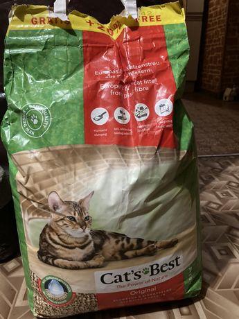 Наполнитель для кошачьего туалета Cats Best Original 5,2 кг