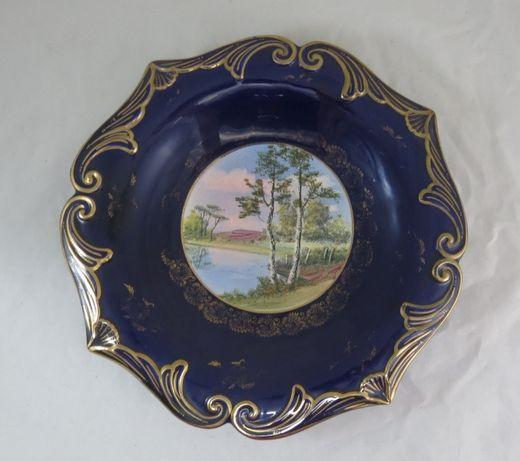 Prato Alcobaça KB pintado à mão; Marcado como é mostrado; 33cm