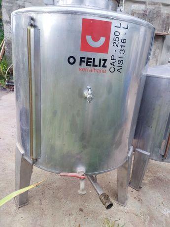 Cuba inox vinho Feliz 250l