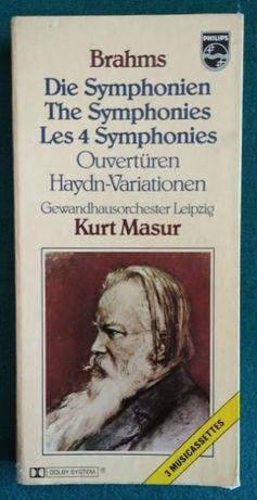 As 4 sinfonias de Brams em cassetes. portes grátis