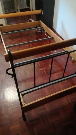 Cama de ferro em madeira maciça 106 * 200 cm