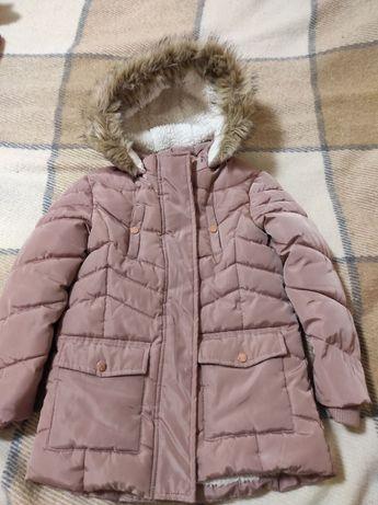 теплая зимняя куртка, для девочки