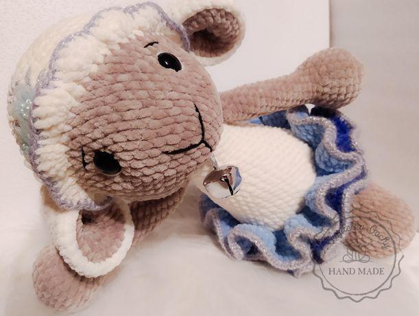 Owieczka Halinka amigurumi maskotka zabawka na szydełko