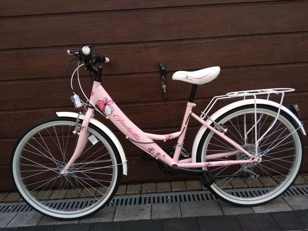 """Rower dziewczęcy 24"""" NOWY Junior przerzutki miejski"""