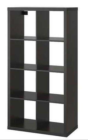 Regał KALLAX IKEA czarnobrąz