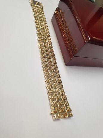 Bransoletka złota pr.585 waga 49.64 wzór galibardi potrójne