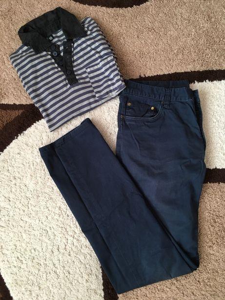 Męski zestaw komplet spodnie i polo