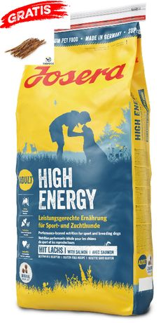 Karma Josera High Energy 15kg - pyszny łosoś-gratis gryzak