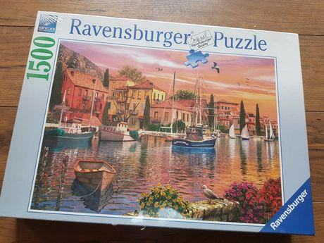 Puzzle ravensburger 1500 miasto/port/kanał/widok