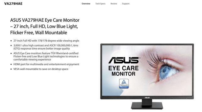 "Monitor ASUS 27"" VA27HAE (semi-novo)"